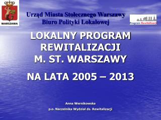 Urz?d Miasta Sto?ecznego Warszawy Biuro Polityki Lokalowej