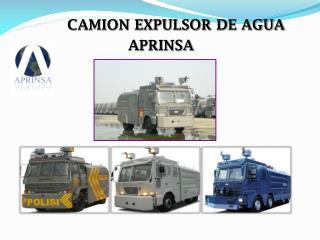 CAMION EXPULSOR DE AGUA                APRINSA