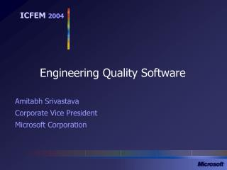 Engineering Quality Software