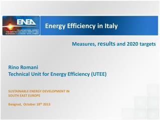 Energy  Efficiency  in  Italy