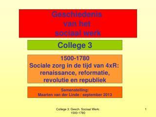 Geschiedenis  van het  sociaal werk