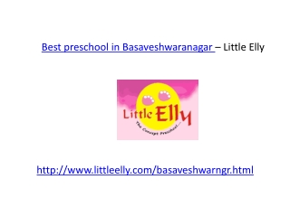Preschool in Basaveshwaranagar