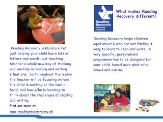 What makes Reading Recovery different?