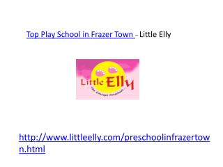 Best  Play School Frazer Town/Cox Town