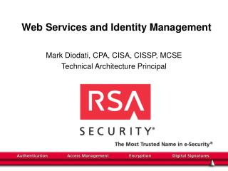 Web Services and Identity Management