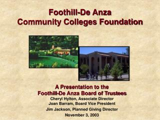 Foothill-De Anza Community Colleges Foundation