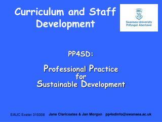 Curriculum and Staff Development