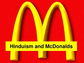 Hinduism and McDonalds