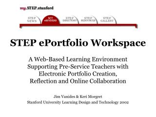 STEP ePortfolio Workspace