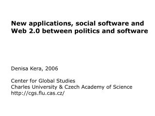 social software, web 2.0 etc.