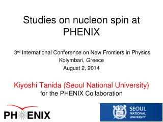 Studies on nucleon spin at PHENIX