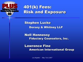 Key Statutory Provisions Regarding Fees