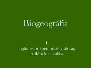 Biogeográfia