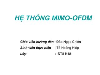 HỆ THỐNG MIMO-OFDM