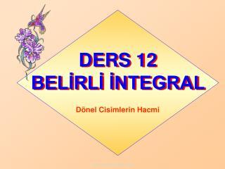 D ERS 12             BELİRLİ İNTEGRAL
