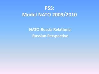 PSS: Model NATO 2009/2010