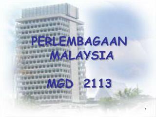 PERLEMBAGAAN  MALAYSIA MGD  2113