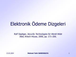 Elektronik Ödeme Dizgeleri