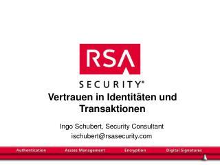 Vertrauen in Identitäten und Transaktionen