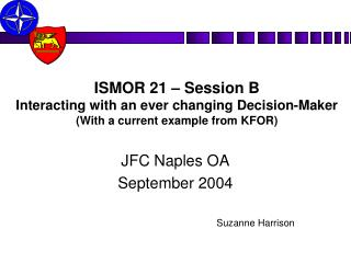 JFC Naples OA September 2004 Suzanne Harrison