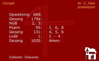 Liturgie br. C. Slobpreeklezen