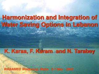 Harmonization and Integration of Water Saving Options in Lebanon