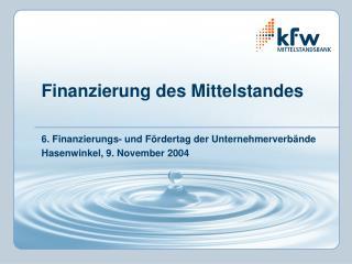 Finanzierung des Mittelstandes
