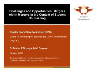 Challenges and Opportunities: Mergers within Mergers in the Context of Student Counselling