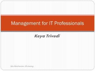 Management for IT Professionals