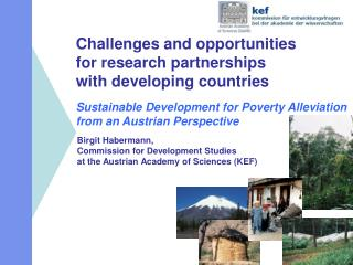 Birgit Habermann,  Commission for Development Studies  at the Austrian Academy of Sciences (KEF)