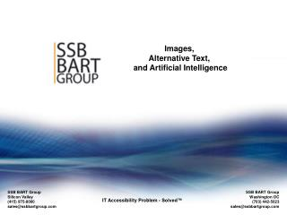 Images, Alternative Text,  and Artificial Intelligence