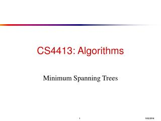 CS4413: Algorithms