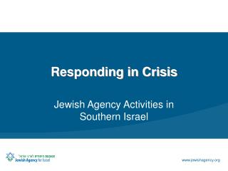 Responding in Crisis
