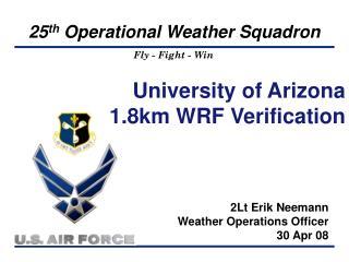 University of Arizona 1.8km WRF Verification