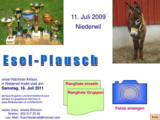 11. Juli 2009 Niederwil