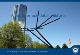 Algoritmer och datastrukturer