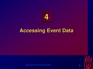 Accessing Event Data