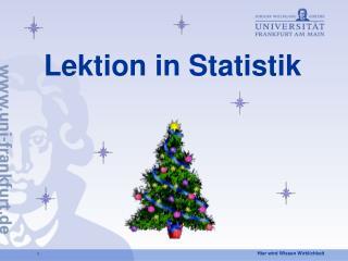 Lektion in Statistik
