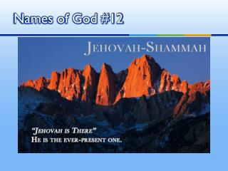 Names of God #12