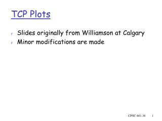 TCP Plots
