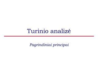 Turinio analiz ė