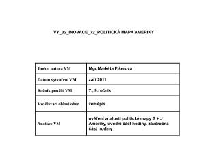 VY_32_INOVACE_72_POLITICKÁ MAPA AMERIKY