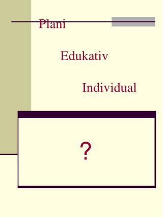 Plani  Edukativ  Individual
