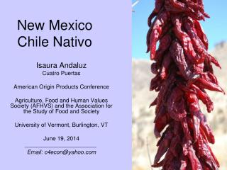 New Mexico Chile Nativo