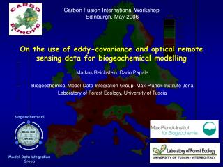 On the use of eddy-covariance and optical remote sensing data for biogeochemical modelling