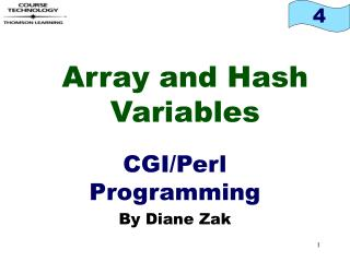 Array and Hash Variables