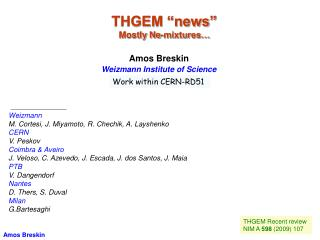 "THGEM ""news""  Mostly Ne-mixtures…"
