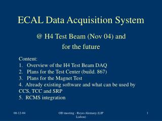 ECAL Data Acquisition System