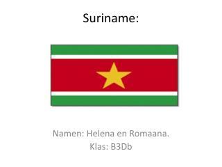 Suriname: