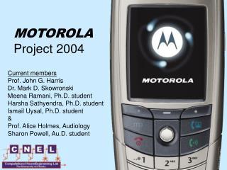 MOTOROLA Project 2004